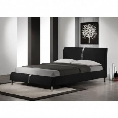 DAKOTA łóżko czarny (2p_1szt)