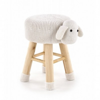 DOLLY 2 pufa owieczka biała...