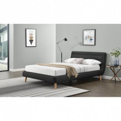 ELANDA 140 cm łóżko ciemny...