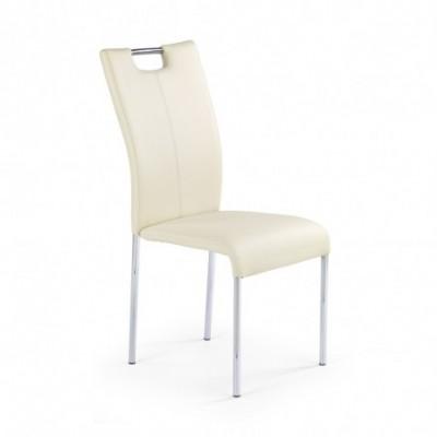 K138 krzesło ciemny krem...