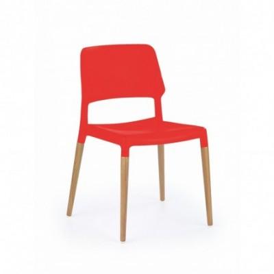 K163 krzesło czerwony...