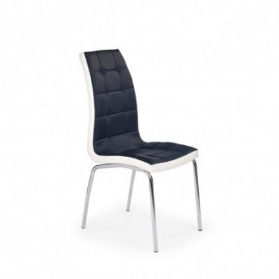 K186 krzesło czarno - białe...