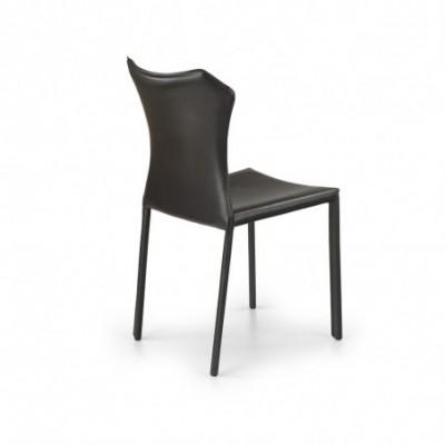 K208 krzesło ciemny brąz...