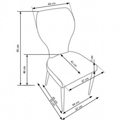 K217 krzesło cappuccino /...