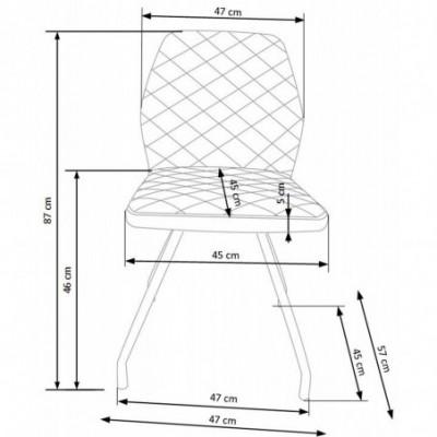 K242 krzesło biały (1p_2szt)