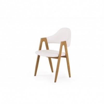 K247 krzesło biały-dąb...