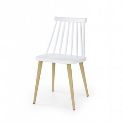 K248 krzesło biały-buk...