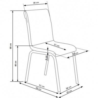 K263 krzesło wielobarwne...