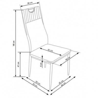 K275 krzesło popielaty...