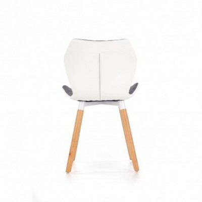 K277 krzesło biało / popiel...