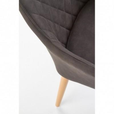 K287 krzesło ciemny brąz...
