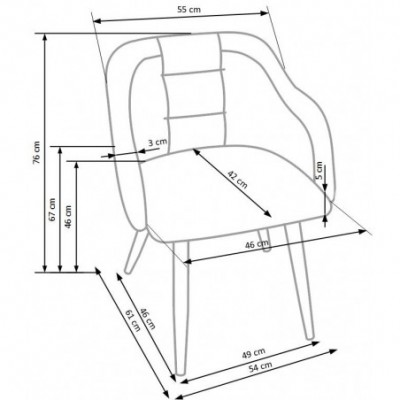 K288 krzesło jasny popiel /...