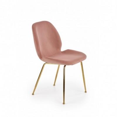 K381 krzesło różowy / złoty...