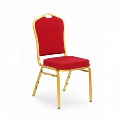 K66 krzesło bordowy, stelaż...