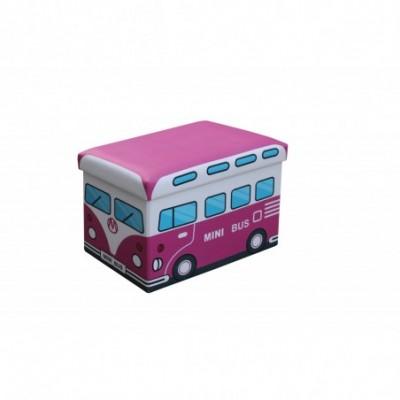 KIRI pufa różówy - minibus...