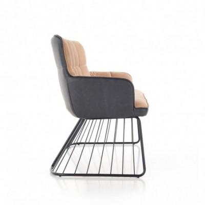 L1 sofa jasny brąz / czarny...
