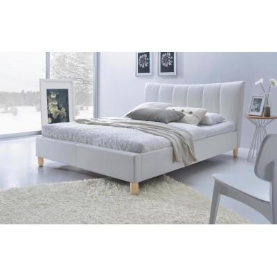 Łóżko SANDY tapicerowane białe