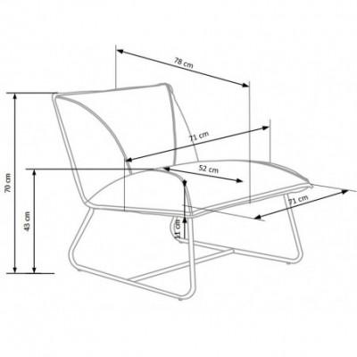 LINK fotel wypoczynkowy beżowy