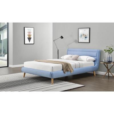 Łóżko ELANDA 140 cm niebieskie