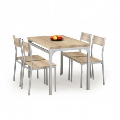 MALCOLM zestaw stół + 4...