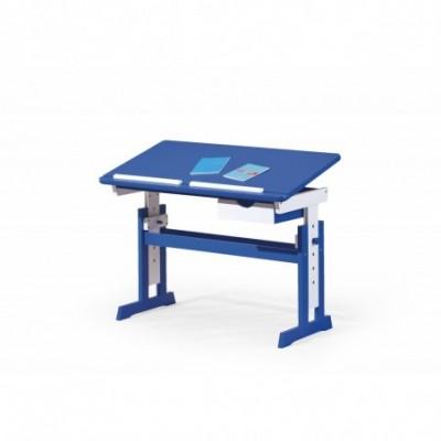 PACO biurko niebiesko - białe