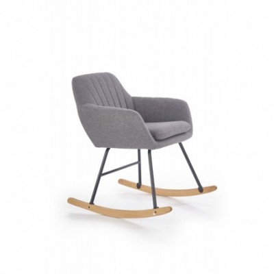 YORK krzesło bujane popielaty