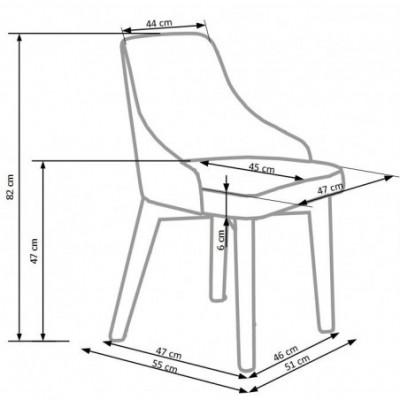 TOLEDO krzesło biały / tap....